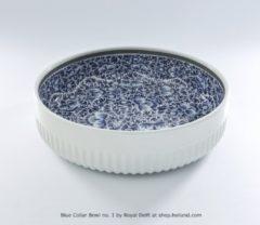Blauwe Royal Delft Schaal 30cm 'Collar Bowl' nr. 1