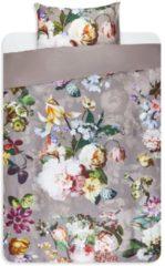Essenza Fleur - Dekbedovertrek - Eenpersoons - 140x200/220 cm + 1 kussensloop 60x70 cm - Taupe
