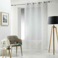 Witte Livettti.NL Livetti | Vitrage - Net Curtain | 140x240 | Natural | Polyester | 1624516
