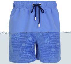 Lichtblauwe Ramatuelle Zwembroek Heren - Magic print Zwembroek - Print zichtbaar zodra zwembroek nat wordt. - Maat M - Kleur Blauw / Indigo