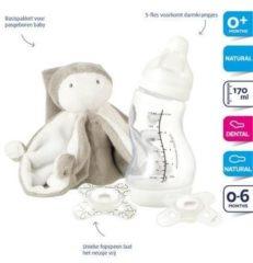Grijze Difrax kraamcadeau baby (4-delig)
