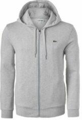 Lacoste heren sweatshirt - lichtgrijs vest (hoody met rits) - Maat XL