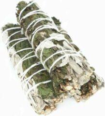 FineGoods Witte Salie met pepermunt - white sage with peppermint - smudge stick - 1 stuk - 10cm - meditatie - yoga - huis reiniging - zuivering