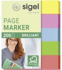 Indexeringsstrookjes Sigel mini brilliant 5-kleurig assorti SI-HN625