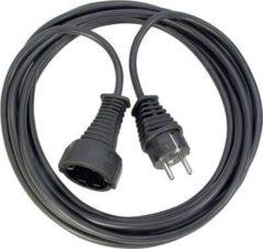 Brennenstuhl Qualitäts-Kunststoff-Verlängerungskabel schwarz H05VV-F 3G1,5 Länge: 5m