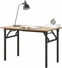 Neu.haus Eettafel bureau 120x60x75 - 76,4 cm opvouwbaar verstelbaar beuken en zwart