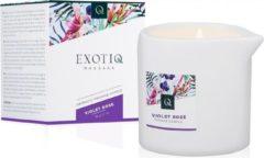 Exotiq Massagekaars Violet Rose - Erotische Massage Kaars olie - 60gr