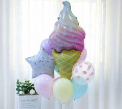 Paarse Uek Original Kids Babyshower - verjaardag - sweet 16 - ijshoorn ballonnenset
