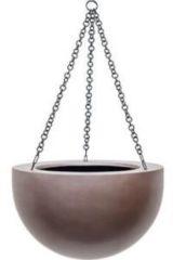 Grijze Plantenwinkel.nl Gradient hanging bowl matt coffee M