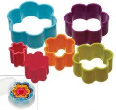 Set van 5 uitstekers - bloemen - Colour Works