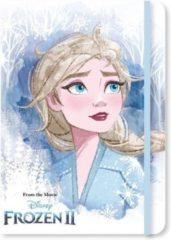 Disney Notitieboekje Glitter Karton/papier Wit/blauw A5