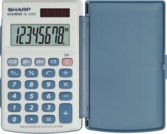 Zakrekenmachine Sharp EL-243 S Wit, Blauw Aantal displayposities: 8 werkt op zonne-energie, werkt op batterijen (b x h x d) 64 x 11 x 105 mm