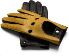 Napogloves NapoDRIVE Echt lederen touchscreen handschoenen | Geel | maat S