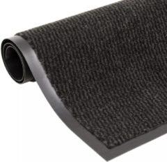VidaXL Droogloopmat rechthoekig getuft 90 x 150 cm zwart / antraciet
