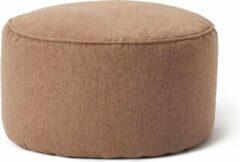 Lumaland Comfort Line Indoor Poef Beanbag Hocker Stool - 45cm x 25cm - Bruin
