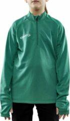 Groene Craft Evolve Halfzip Longsleeve Shirt Junior