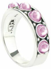 Symbols 9SY 0056 56 Zilveren Ring - Maat 56 - Rhodoniet - Roze - Geoxideerd