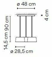 Vibia Tube 6145 Triple Leveled Medium VI 614510/1A Wit