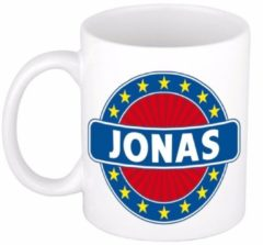 Shoppartners Namen mok / beker - Jonas - 300 ml keramiek - cadeaubekers