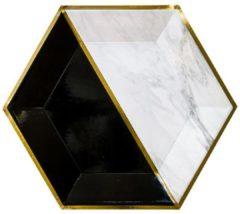 Gouden Kartonnen borden - Vanity - Harlow & Grey - 26cm - 8stuks