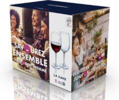 Luminarc 6x Stuks wijnglazen transparant 470 ml - Wijnglas voor rode wijn op voet