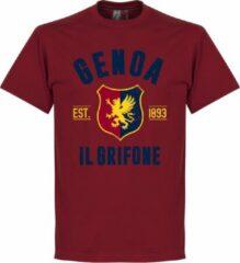 Retake Genoa Established T-Shirt - Bordeaux Rood - XL