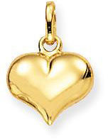 Gele Glow 230.0005.00 Gouden Hanger/Bedel Hart 8 x 10 mm