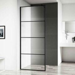Inloopdouche Horizon 80x200 cm Inclusief Mat Zwart Raster en NANO Glas