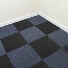 MonsterShop 40 x Tapijttegels - Kleur: Storm Blauw en Zwart - 50x50cm 10m2 - Vloerbedekking - Tapijt tegels tegel - Makkelijk te leggen - Ideaal voor kantoren woningen werkplaatsen