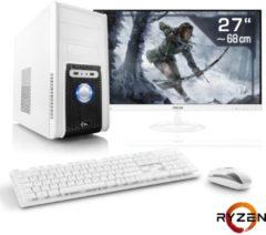 "CSL Gaming PC Set | Ryzen 7 1700 | GTX 1050Ti | 16GB DDR4 | 27\"""" TFT »Sprint T8675 Windows 10 Home«"