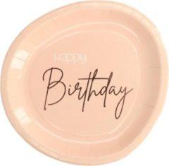 Folat Party Products Borden Elegant Lush Blush 23 cm - 8 stuks