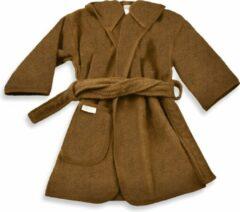 Bruine Funnies badjas brown clay | funnies badjas | badjas 1-2 jaar | 100% zuivere katoen, badstof | baby | na het zwemmen | na het douchen