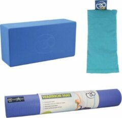 Blauwe Fitnes Yoga Sport Set - Basis