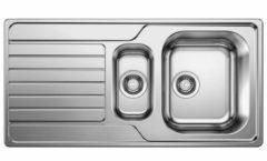 Van Marcke inbouwspoelbak Blanco Dinas 6S 1,5 bak 1000x500mm omkeerbaar RVS