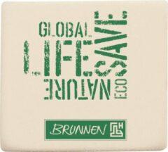 Brunnen Gum Wit/groen Rubber 4 X 3,5 X 1 Cm