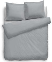 Witte Heckettlane Dekbedovertrek Uni Puntini - Licht Grijs - Lits-jumeaux XL (260 x 200/220 cm) - Katoensatijn - Grijs - Heckett Lane