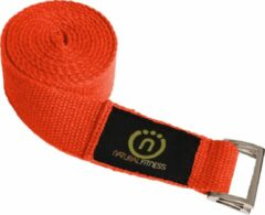 Natural fitness Yoga Strap 2,44m (hennep) - rood