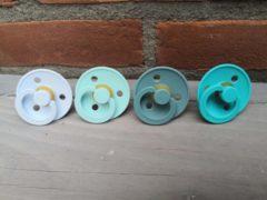 BIBS fopspenen 6-18 maanden Set 4 stuks | Baby Blue, Mint, island sea , Turquoise| Maat 2