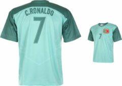 Groene Holland Portugal Voetbalshirt Ronaldo Uit 2020-2022-104