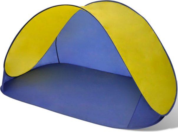 Afbeelding van Gele VidaXL Opvouwbare strandtent waterafstotend en met UV bescherming (geel)