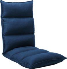 VidaXL Vloerstoel inklapbaar stof blauw