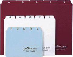 DURABLE 365002 Alfabetische tabbladindex Wit A5 liggend Plastic 21 x 14,8 cm 25 Stuks