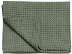 Groene Vandyck luxe pique wafel bedsprei (270x250 cm)