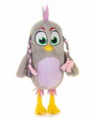 Grijze Angry Birds Friends Pluche Knuffel Silver 32 cm