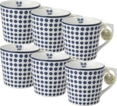 Blauwe Laura Ashley Minimokken Humble Daisy (Set 6 stuks)