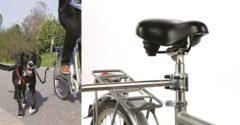 TRIXIE Hondenriem set voor fietsers zilver en zwart 1287