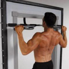 Grijze Toorx Fitness Toorx 3-in-1 Deurtrainer BTP M - Pull up bar - Meerdere grepen - 100 kg