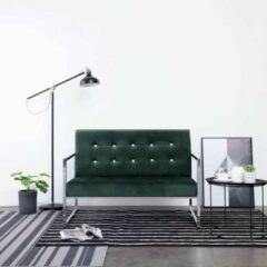 Bankstel 2-zits Velvet Donkergroen (Incl FLEECE deken) - Loungebank - Woonkamer bank - Sofa - Tweezitsbank- Zitbank