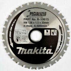 Makita Accessoires Cirkelzaagblad met. 136x20x1,5 30T 0g voor zacht staal