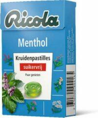 Ricola   Menthol suikervrij   20 x 50 gram
